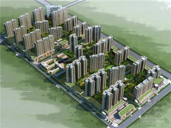 [陕西]现代高层安置住房居住区规划设计方案文本