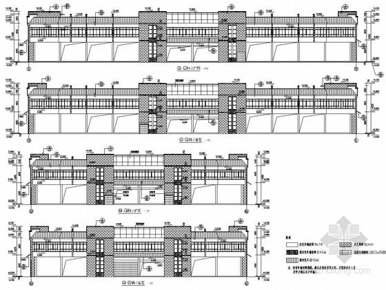 两层框架结构市场结构施工图(含建筑图)