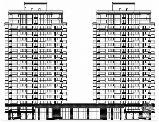 [威海市]某十八层高层公寓楼建筑结构水暖电施工图