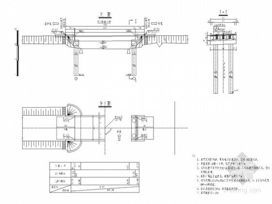 一跨20米预应力T梁桥设计套图(32张)