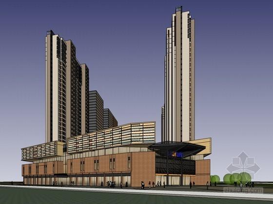 商业高层建筑SketchUp模型下载