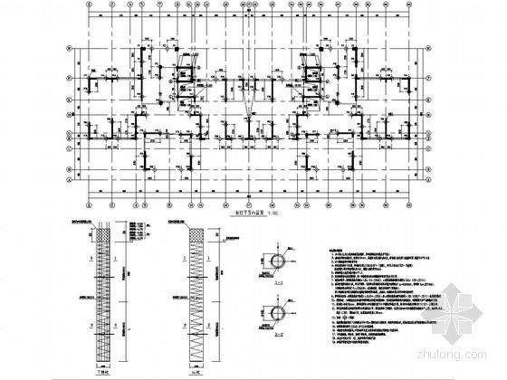 [江苏]两栋34层框架剪力墙结构住宅楼结构施工图