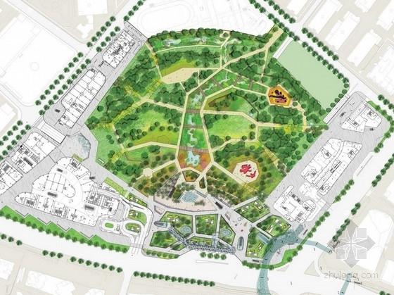 [深圳]核心商业区艺术综合公园景观设计方案