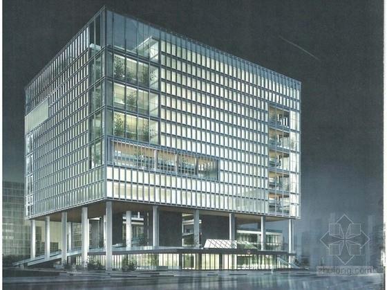[广东]现代风格高层服务办公楼建筑设计方案文本
