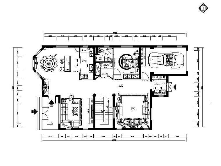 一整套详细完整的三层别墅设计施工图