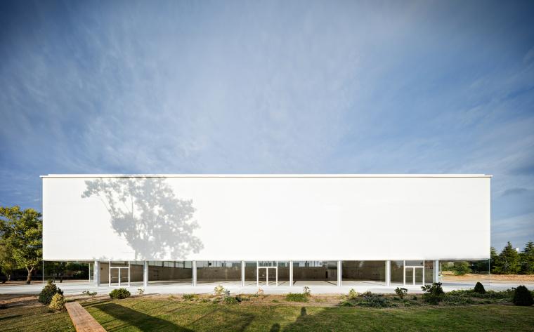 西班牙校园里的运动综合建筑