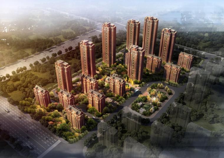 [天津]高层英式风格塔式住宅楼建筑设计方案文本(含多张CAD)