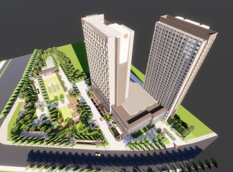 [河南]郑州荣邦锦江国际酒店建筑模型设计(现代风格)