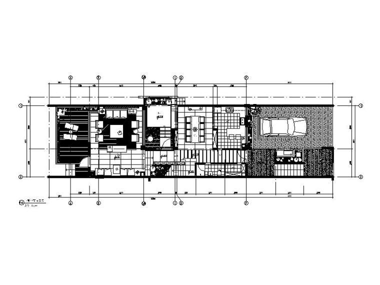 [重庆]空中花园别墅施工图(含效果图)