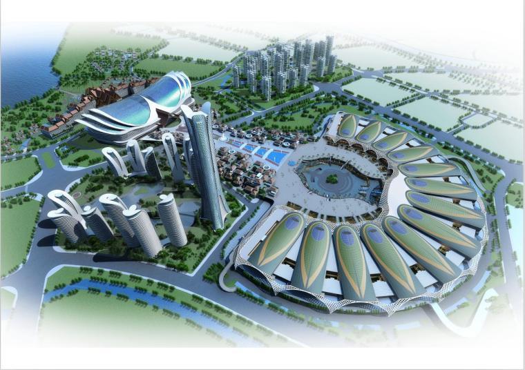 [昆明]高层孔雀造型国际会展中心建筑设计方案文本