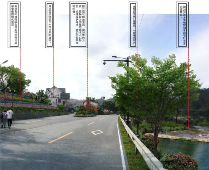 [浙江]乡镇环境综合整治改造城市规划景观设计-景观效果图1