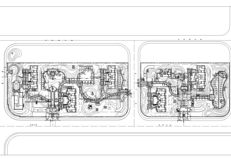 [天津]万通华府居住区景观全套施工图(包括水电、土壤改造等)