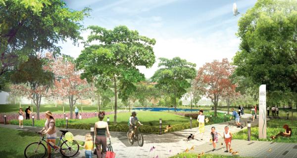[广东]生态河道两岸田园城市公园景观规划设计方案