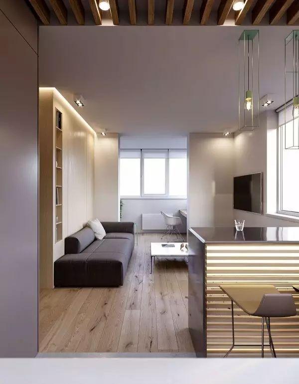 80㎡简约木质装修3居 温暖的才是家啊