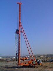 CFG桩长螺旋钻孔施工
