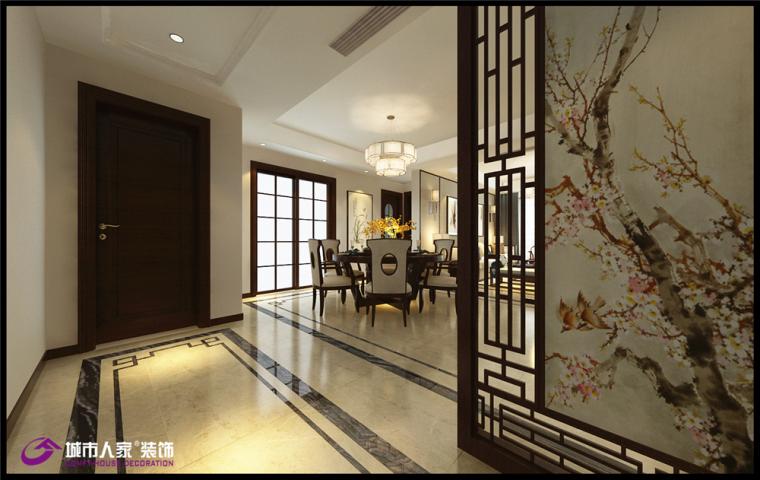 龙泉壹号四居室新中式风格装修