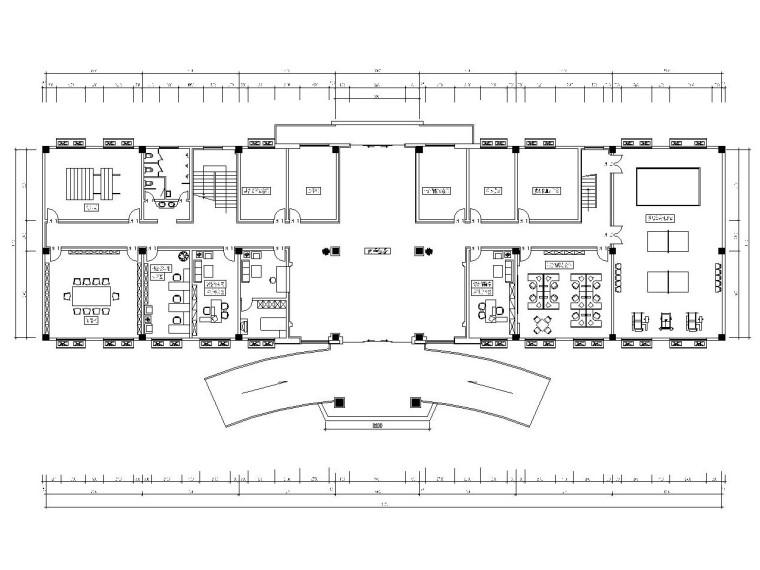 现代简约风格综合办公楼室内装修施工图(附效果图)