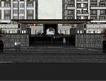 大运河府新中式风格景观模型设计