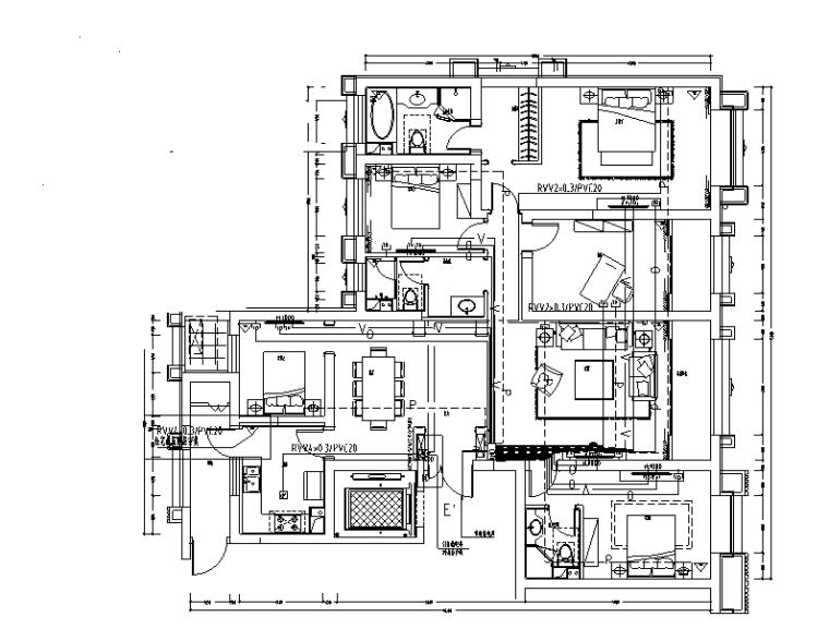 小区深化图纸资料下载-知名商业广场豪宅精装深化图纸