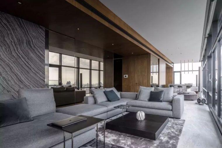 室内设计 130㎡的单身公寓,设计感十足_7