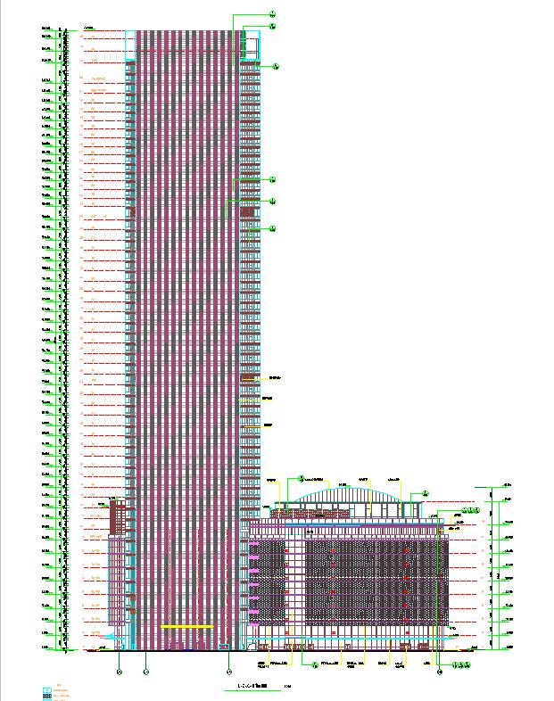 [浙江]超高层个中央国际广场CAD及方案设计全套图纸_11