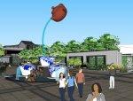 客家文化+茶文化+中式商业街建筑设计(SU模型)