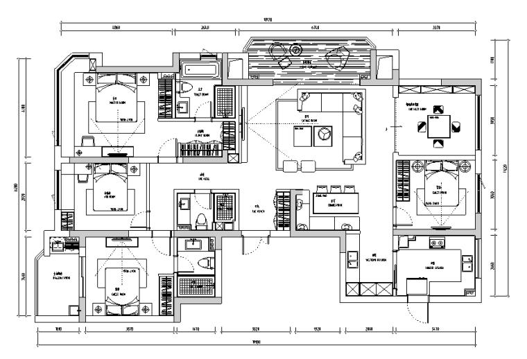 春江彼岸现代简约风样板房设计施工图(附效果图)_4