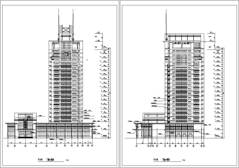 现代高层办公综合楼建筑设计CAD
