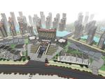 现代商业住宅规划区建筑SU模型