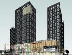 现代商住综合体建筑SU方案模型
