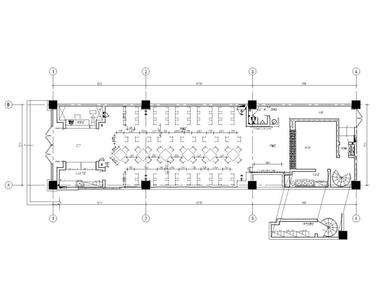[郑州]中式简约风格中餐厅装修施工图(附效果图)