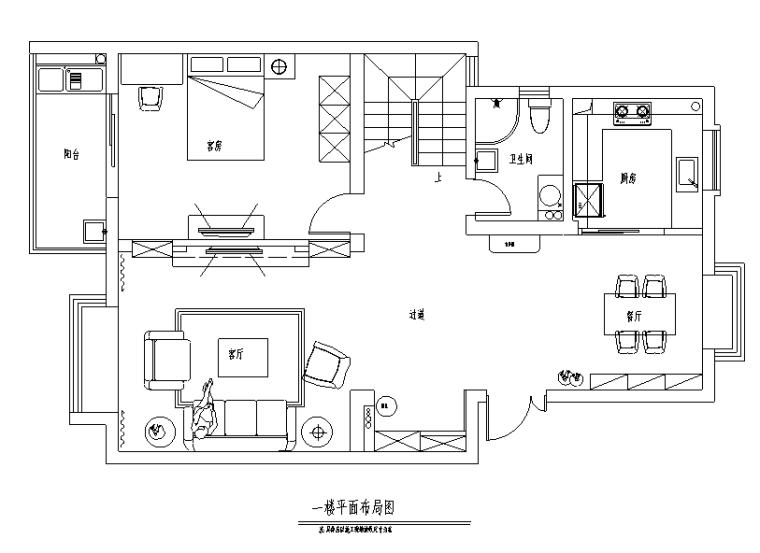 花恋主题田园风三居室住宅设计施工图(附效果图)