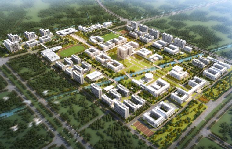 [上海]电力学院临港新校区建筑设计方案文本