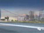 [钢结构·桥梁]卡塔尔环形塔自锚式悬索桥