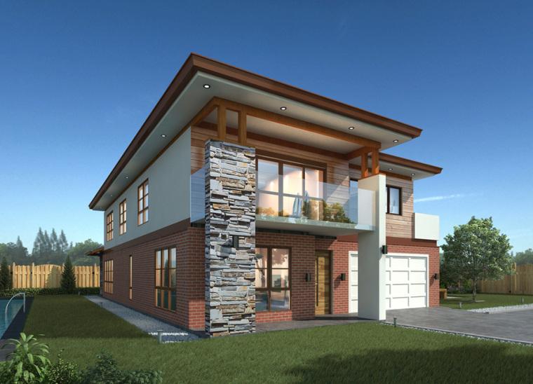 农村二层别墅盖房设计案例效果图-别墅1