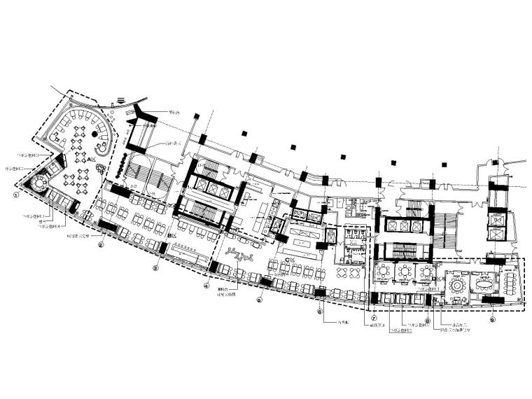 [深圳]后现代风格餐厅室内装修全套施工图(附效果图)