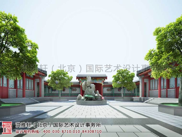 良辰美景奈何天宜昌四合院中式设计案例_3