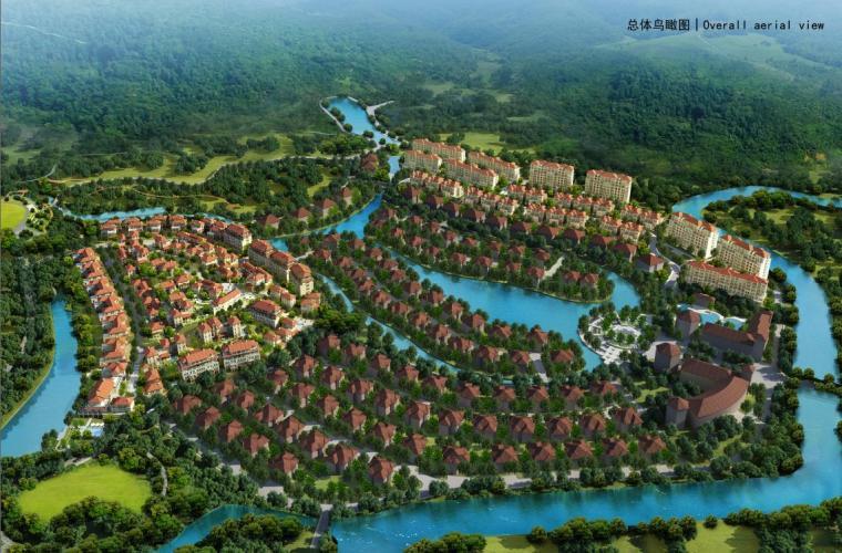 [广东]庄园式简欧风格叠拼式住宅建筑设计方案文本(含景观设计)