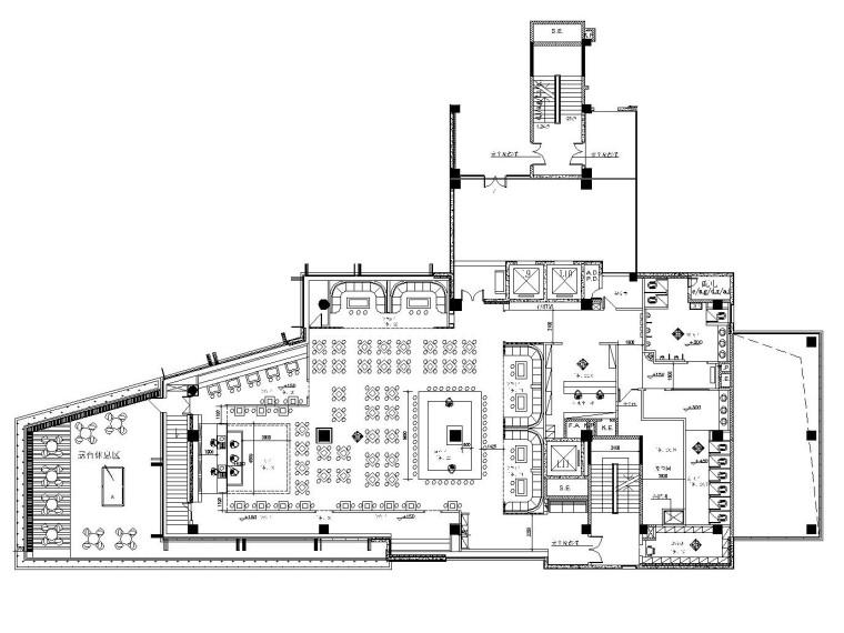武汉WIX酒吧室内设计全套CAD施工图(附效果图)
