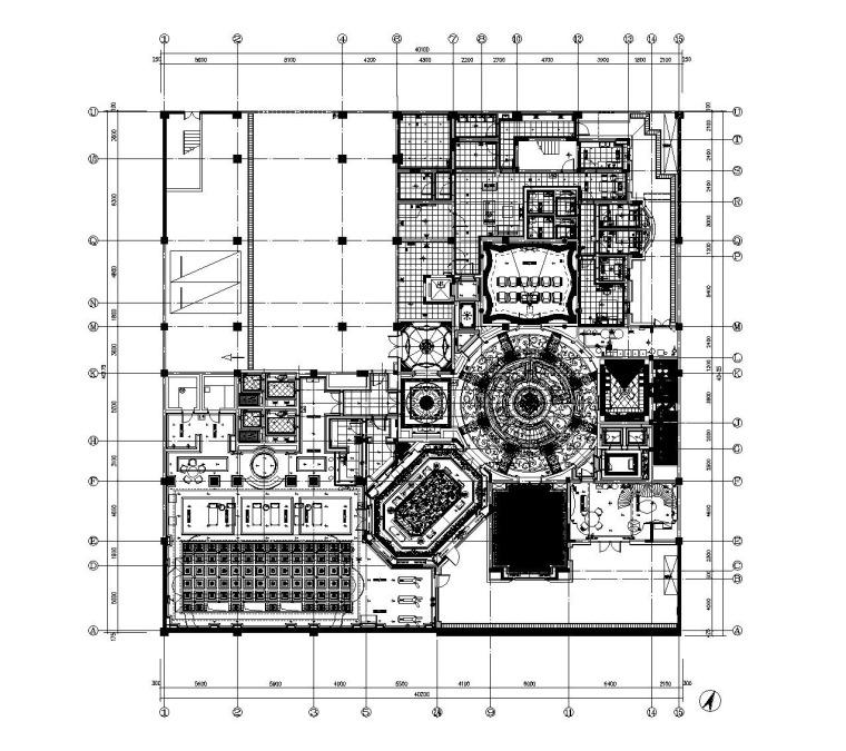 [上海]法式新古典高尔夫别墅样板间装饰施工图(附效果图)_4
