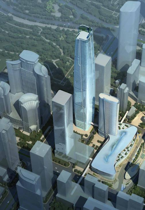 超高层现代风格办公楼建筑设计方案文本(图纸齐全)