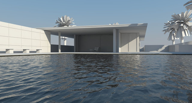 Sketch up中用V-ray 渲染游泳池——用力寻找蓝海的方向