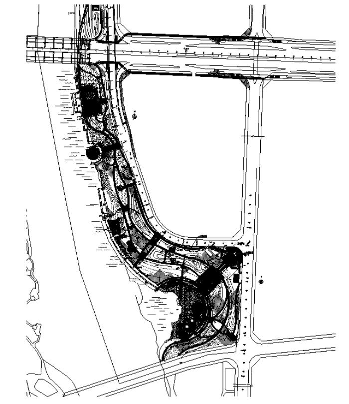 [江苏]区域优化滨水景观设计施工图