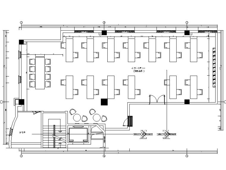精典创意办公室设计全套施工图(含效果图)