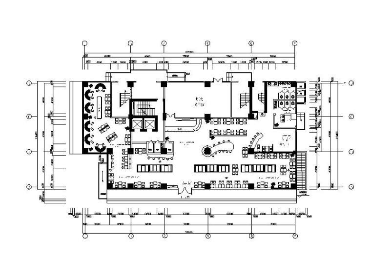 全国连锁快餐厅设计cad施工图(含效果图)怎样写图纸说明设计图片