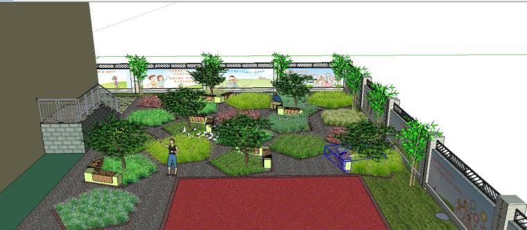 休闲庭院景观设计模型-场景一