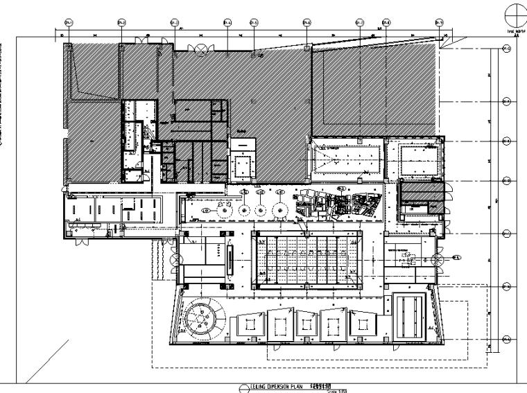 [上海]知名地产御河硅谷售楼空间设计施工图(附效果图+软装方案)-天花软装索引图