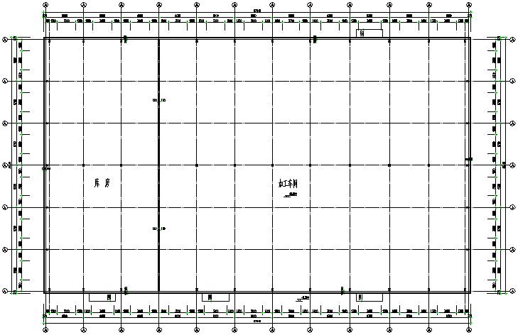 图纸门式刚架拖动钢结构图纸(cad,13张)labview承重全套图片