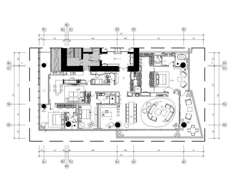 [深圳]深圳湾壹号现代中式风格住宅完整施工图+完工实景图