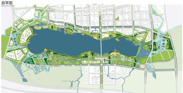 钱资湖景观概念规划设计方案文本-总平面图